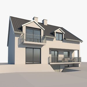 contemporary house 3D