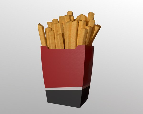 3D model french fries