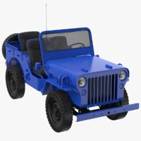 3D real willys jeep