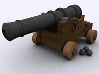 Medieval Cannon Model