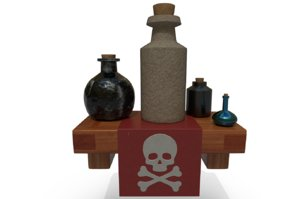 shelf poison 3D model