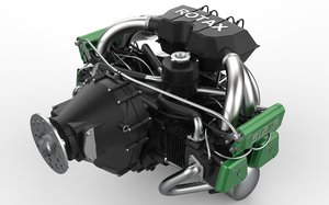 3D rotax engine 912s series model