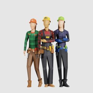 3D model women people pack