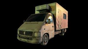 3D cargo truck model