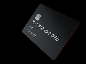 3D model credit card
