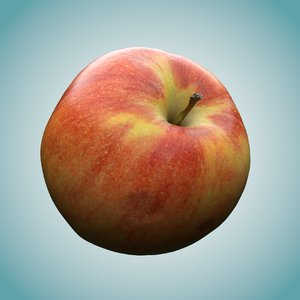 3D apple polly model