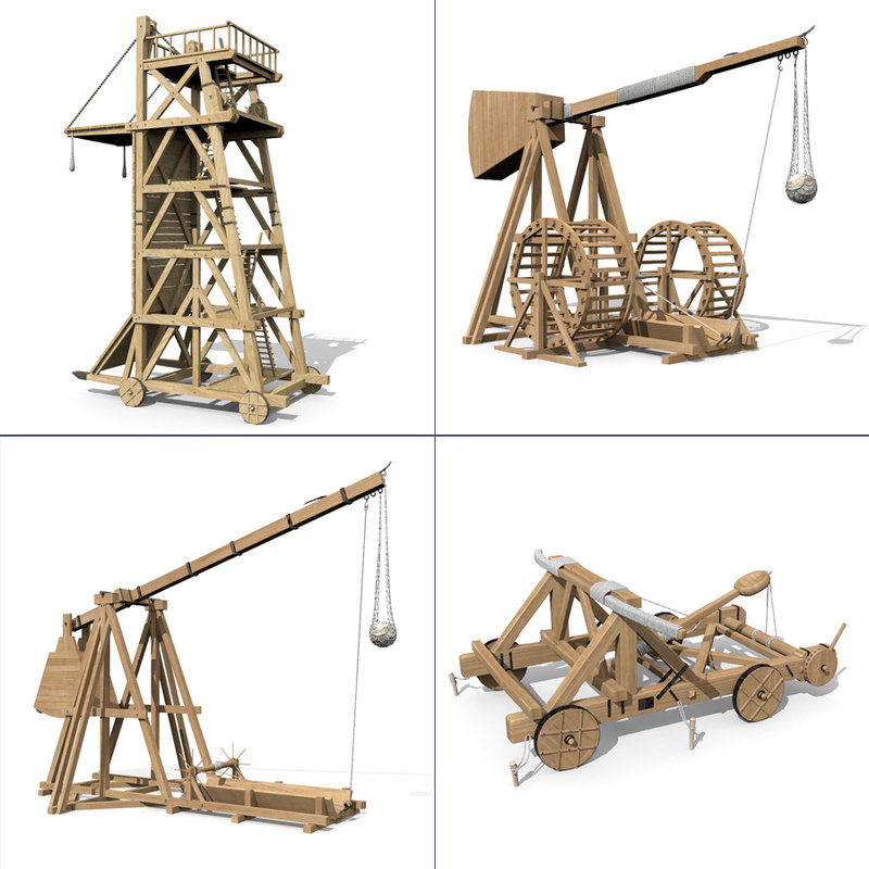 set siegeweapons trebuchet siege model