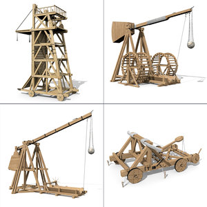 set siegeweapons trebuchet siege model