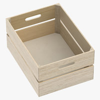 wooden crate 01 3D
