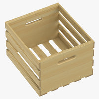3D wooden crate 02