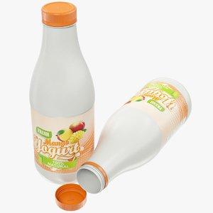 3D model yogurt bottle