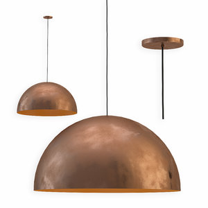 fabbian copper pendant lamp 3D model