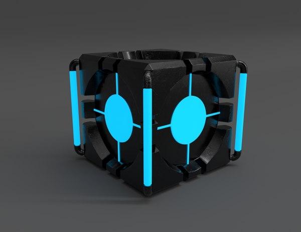 3D cube renders model