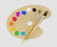 artist painting 3D model
