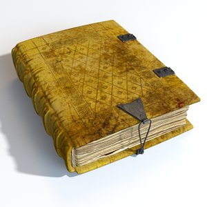 3D model medieval book