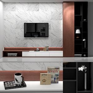 3D tv living room model