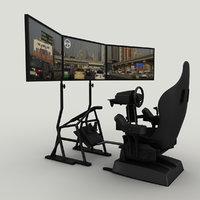 3D simulator chair