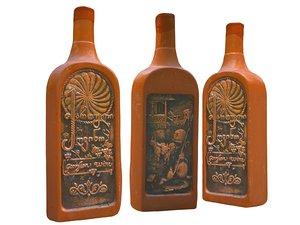 3D magic bottle old wine