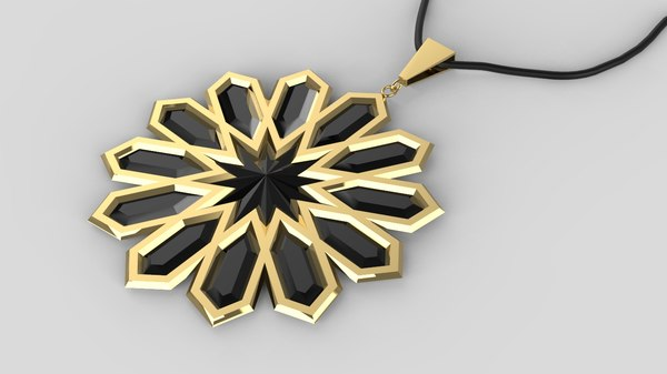 3D model moroccan necklace print traditional