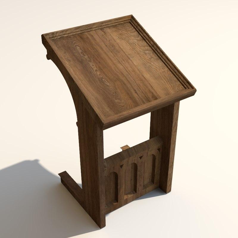 medieval lectern 3D model