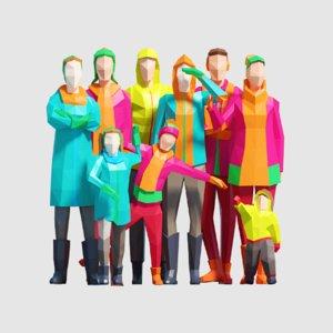 3D model women people pack