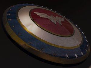 3D wonder woman shield