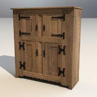 medieval wardrobe 3D