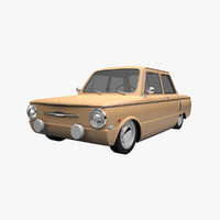 Cartoon Car ZAZ 968