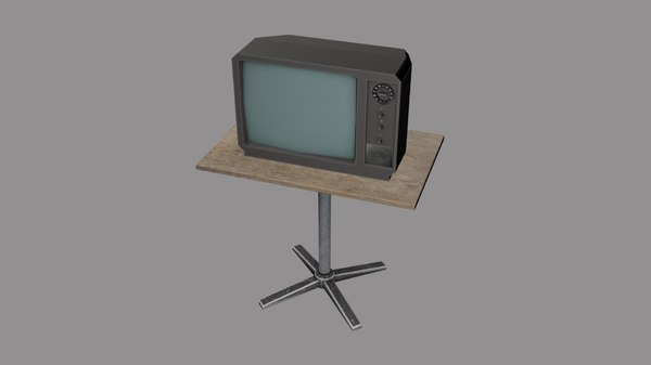 old wooden table tv 3D model