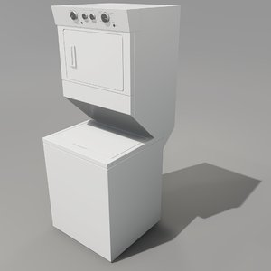 whirlpool stacked 3D model