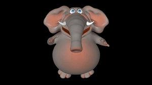 3D funny elephant model