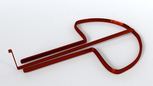 3D jew s harp model