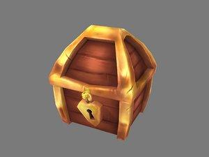 golden chest 3D model