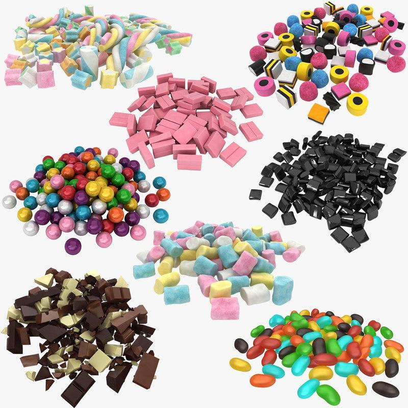 candy pile 3D model