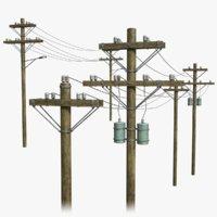 voltage lines 3D model
