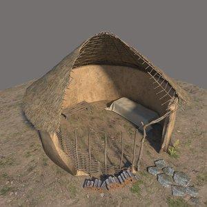 prehistoric neolithic 3D model