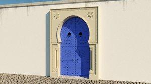 3D traditional tunisian door