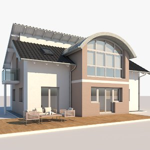 contemporary house 3D model