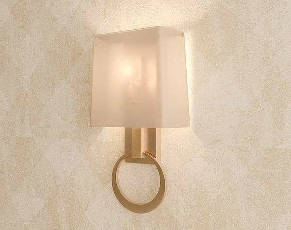 3D model decorative wall lamp