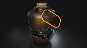 grenade ready 3D model