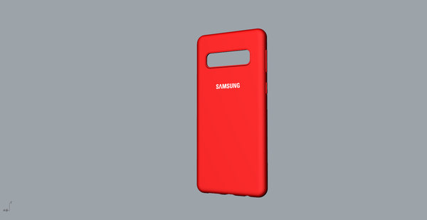 3D samsung galaxy s10 red