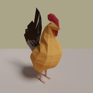 3D rooster