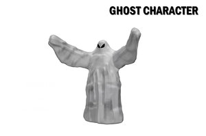 rigged ghost character animation 3D model