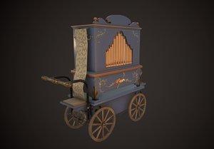 3D model street organ