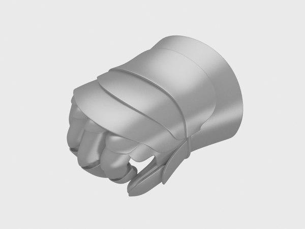 3D model ice hockey gloves