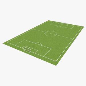 soccer pitch 3D model