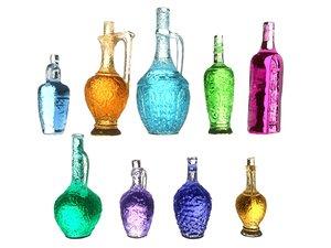 3D magic bottle pack model