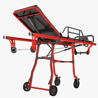 3D model ambulance stretcher trolley