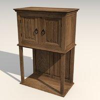 3D medieval cabinet