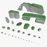 Rocks pack low poly
